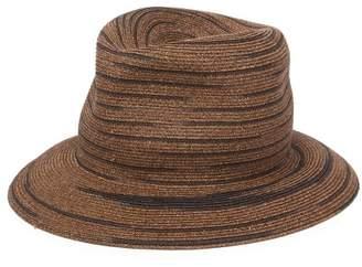Albertus Swanepoel Bailey Straw Striped Panama Hat - Mens - Brown