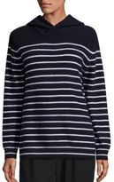 Vince Cashmere Hooded Striped Sweater