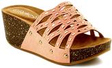 Refresh Pink Strappy Elva Wedge Sandal