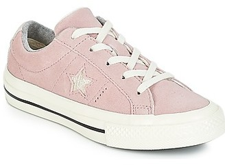 Converse ONE STAR OX girls's Shoes (Trainers) in Pink