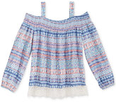 Kandy Kiss Off-The-Shoulder Peasant Top, Big Girls (7-16)