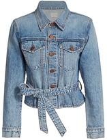 Alice + Olivia Jeans Teresa Cinch Waist Denim Jacket