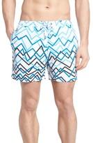 BOSS Men's Piranha Print Swim Trunks
