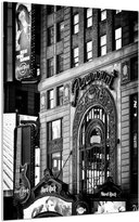 Art.com Hard Rock Cafe and Paramount Building at Times Square by Night, Broadway, Manhattan, New York Metal Print By Philippe Hugonnard - 46x61 cm