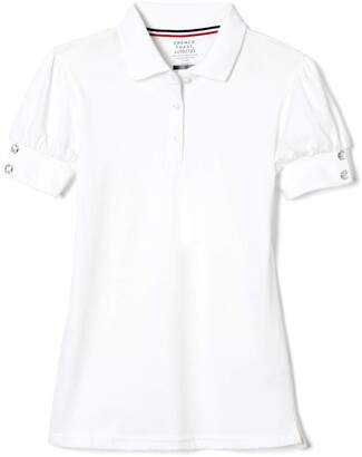 French Toast Little Girls' Toddler Puff Sleeve Double Button Polo
