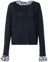Oscar de la Renta knitted dress with print - women - Virgin Wool - M