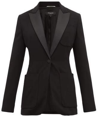 Rochas Satin-lapel Single-breasted Blazer - Womens - Black