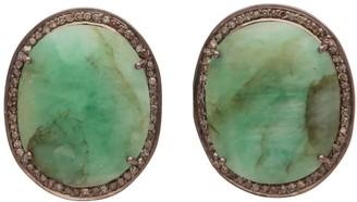 Carousel Jewels Large Emerald & Diamond Studs