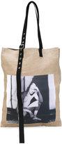 Raf Simons - photographic tote bag - men - Hemp - One Size