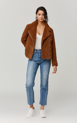 Soia & Kyo LAURE Sherpa jacket with moto collar