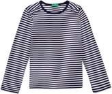 Benetton Girls Breton Stripe Long Sleeve T-Shirt