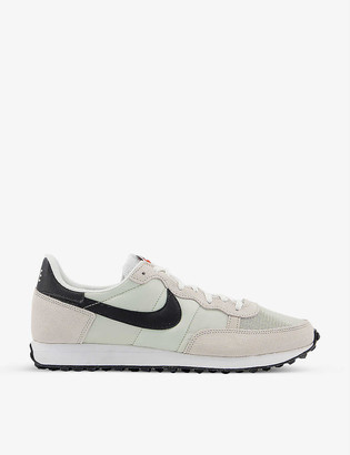 Nike Challenger leather and textile trainers