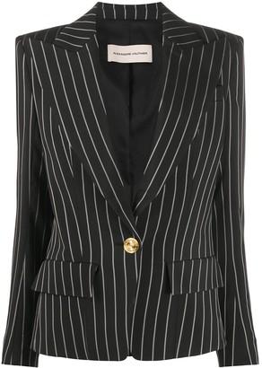 Alexandre Vauthier deep V-neck pinstripe jacket