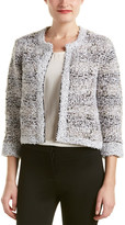 Magaschoni Silk & Cashmere Blend Texture Tweed Jacket