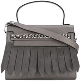 Casadei fringed tote - women - Calf Leather/Satin/Calf Suede - One Size