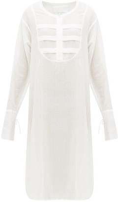 Loup Charmant Heron Cotton-voile Tunic Dress - White