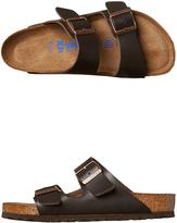 Birkenstock Womens Arizona Nubuck Leather Sandal Brown