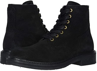 Frye And Co. AND CO. Peak Work Boot (Black Waxed Suede) Men's Boots