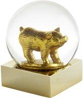 CB2 Gold Pig Snowglobe