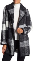 GUESS Unlined Plaid Wool Coat