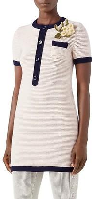Gucci Knit Wool Flower Dress