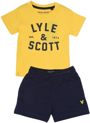 Lyle & Scott Toddler Boys T-shirt and Short Set - Yellow
