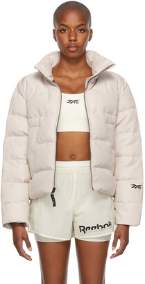 Reebok By Victoria Beckham Off-White Down Cropped Jacket
