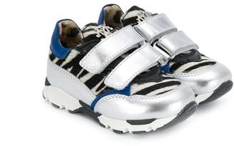 Roberto Cavalli Junior TEEN zebra print sneakers