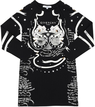 Givenchy Allover Printed Sweatshirt Dress