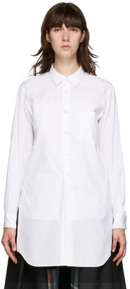 Comme des Garcons White Pocket Shirt Short Dress