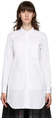 Comme des Garçons Homme Plus White Pocket Shirt Short Dress