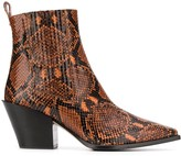 Aeyde snakeskin print ankle boots