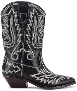 Isabel Marant Duerto Boot in Black & Ecru | FWRD