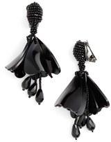Oscar de la Renta Women's 'Mini Impatiens' Flower Drop Clip Earrings
