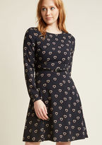 Sugarhill Boutique Heart to Believe A-Line Dress in 10 (UK) - Long Knee Length by from ModCloth