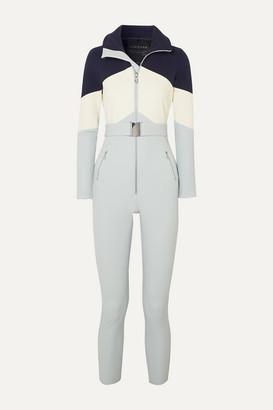 Cordova Alta Belted Stretch Ski Suit - Light blue