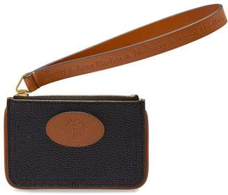 Mulberry and Acne Studios Coin Purse Black and Tan Scotchgrain