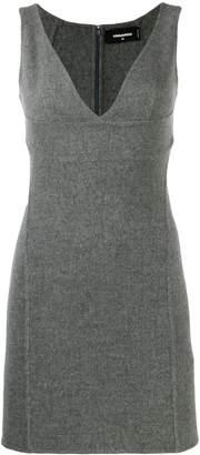 DSQUARED2 V-plunge mini dress
