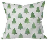 """DENY Designs Green Nature Leah Flores Pine Tree Forest Pattern Throw Pillow (20""""x20"""