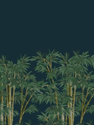 House of Hackney Bambusa Midnight Wallpaper