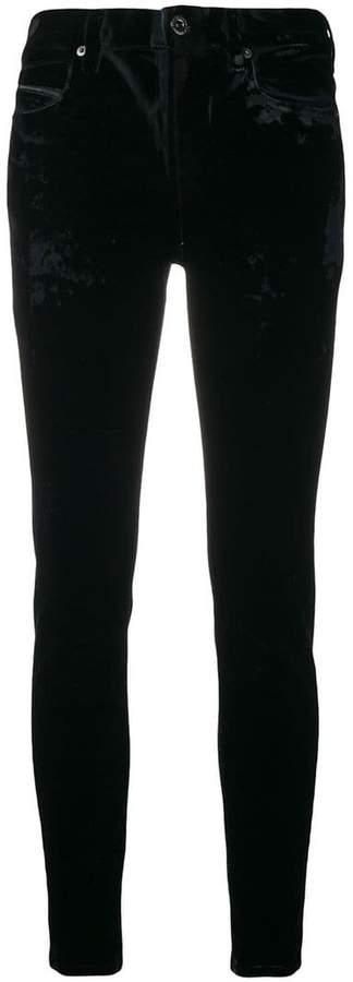 Diesel Black Gold slim velvet trousers