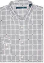Perry Ellis Big and Tall Multi Color Dot Grid Shirt