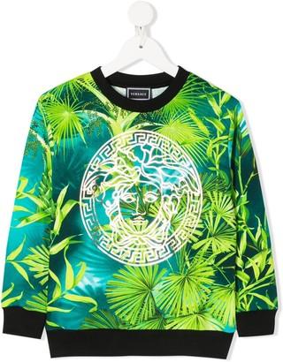 Versace Foliage Logo Print Sweatshirt