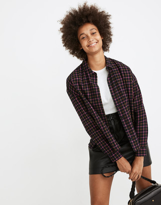 Madewell Flannel Westlake Shirt in Stoppard Plaid
