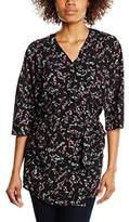 BZR Women's Abbey Floral 3/4 Sleeve Blazer,(Manufacturer Size:38)