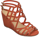 City Classified Orange Behave Wedge Sandal