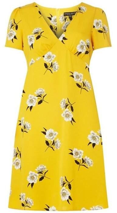 Dorothy Perkins Womens Yellow Floral Print Shift Dress