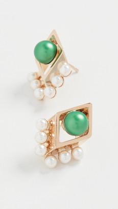 Anton Heunis Small Rhombus Earrings