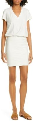 James Perse Short Sleeve V-Neck Blouson Dress
