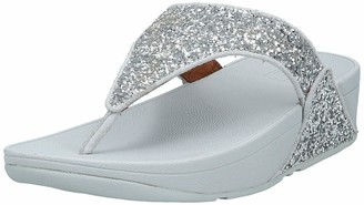 FitFlop Women's Lulu Glitter Toe-Thongs Open Sandals